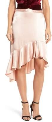 Leith Sateen Ruffle Skirt
