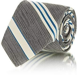 Fairfax MEN'S STRIPED SILK JACQUARD NECKTIE - BLUE