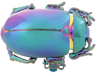 Balenciaga Balenciaga Metal Beetle Clip-on Earring
