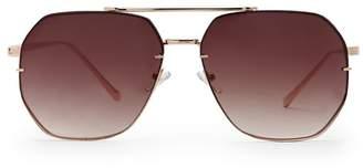 Forever 21 Geo Aviator Sunglasses