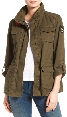 Women's Vince Camuto Embroidered Cotton Twill Utility Jacket $168 thestylecure.com