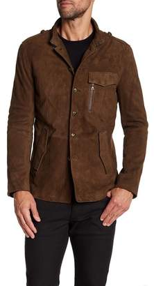 John Varvatos Collection Slim Fit Button Suede Jacket