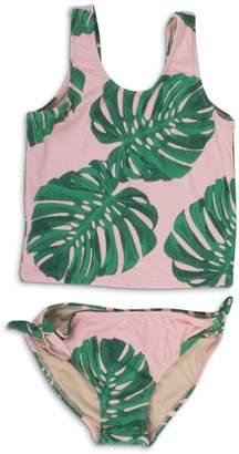 shade critters PALM BEACH Pink Palm Tankini