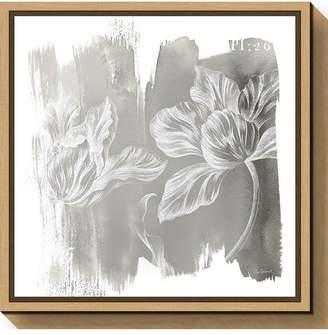 Amanti Art Water Wash II Neutral Floral by Sue Schlabach Canvas Framed Art