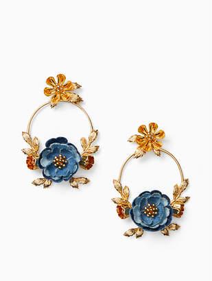 Kate Spade Flower Child Door Knocker Earrings