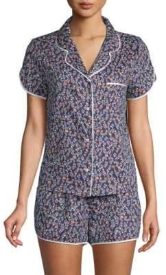 Two-Piece Printed Short-Sleeve Pajama Set