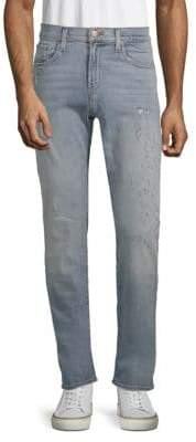 J Brand Tyler Slim-Fit Distress Jeans