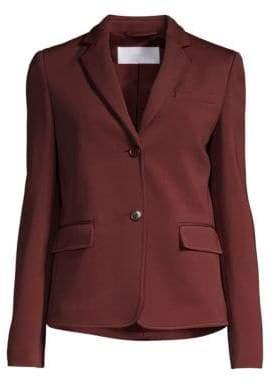 BOSS Women's Jomanda1 Textured Jersey Blazer - Dark Auburn - Size 4