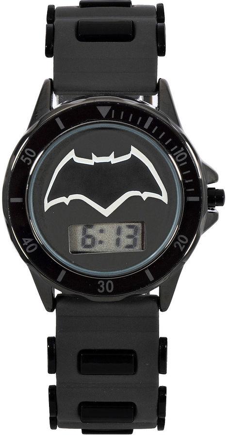 DC COMICS DC Comics Batman vs. Superman LCD Dial Black Silicone Strap Watch