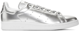adidas Originals Silver Stan Smith Sneakers $100 thestylecure.com