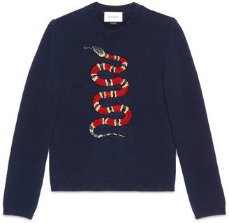 Kingsnake jacquard wool sweater $980 thestylecure.com