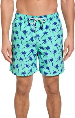 Trunks Tom & Teddy Palm Tree Print Swim