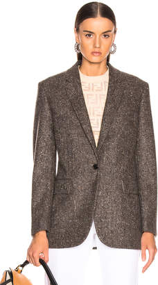 Calvin Klein Tailored Blazer in Sepia Grey Black | FWRD