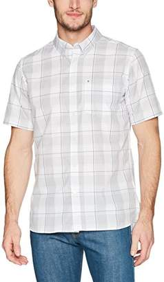 Hurley Men's Dri-Fit Plaid Short Sleeve Button Up