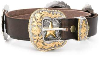 Jessie Western embossed Star belt