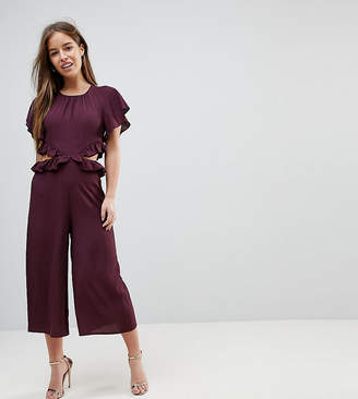 Asos Jumpsuit With Ruffle And Cut Out