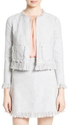 Women's Rebecca Taylor Slub Suit Jacket $475 thestylecure.com