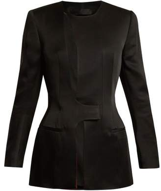Haider Ackermann Kuiper Asymmetric Jacket - Womens - Black Red