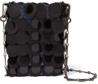Paco Rabanne Sparkle 1969 Mini Sequined Faux Leather Shoulder Bag - Black