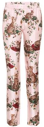 Dolce & Gabbana Printed silk trousers