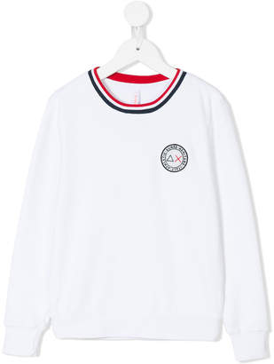 Sun 68 logo chest patch sweatshirt