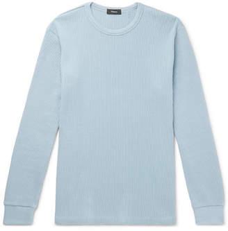 Theory Waffle-Knit Pima Cotton Sweatshirt