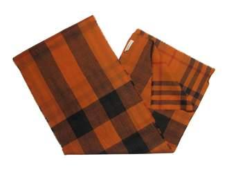 Burberry Orange Wool Scarves