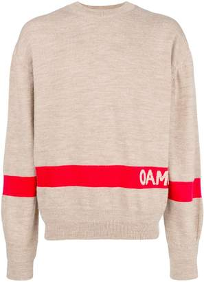 Oamc colour-block logo sweater