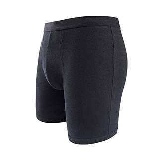 Mirry Men's 5-Pack Full Cut Boxer Sleep Shorts Full Cut Cotton Soft Skin- Value Pack