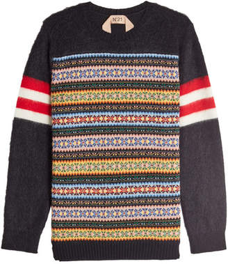 N°21 N21 Pullover with Wool and Mohair