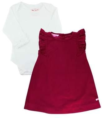 RuffleButts Bodysuit & Corduroy Dress Set