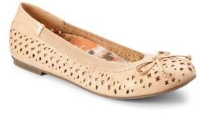 Vionic Surin Leather Perforated Ballet Flats