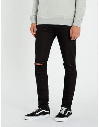 Ksubi Van Winkle slim-fit mid-rise distressed stretch-denim jeans