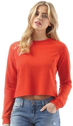 Brave Soul Womens Pluto Cropped Raglan Sweatshirt Fiesta