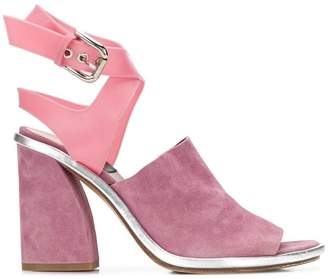 Premiata angled heel sandals