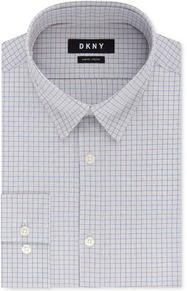 DKNY Men's Slim-Fit Performance Active Stretch Check Dress Shirt
