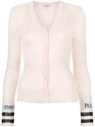 Emilio Pucci ribbed slim-fit cardigan