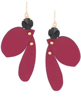 Marni leather hanging earrings