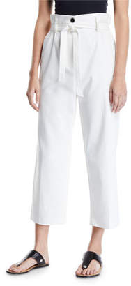 3.1 Phillip Lim Cropped Paperbag Straight-Leg Pants
