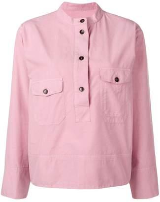 YMC フロントボタン シャツ