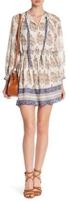 Lucky Brand Printed Drop Waist Boho Dress