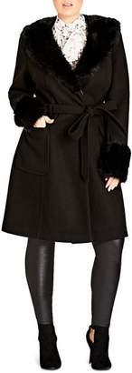 City Chic Plus Make Me Blush Coat