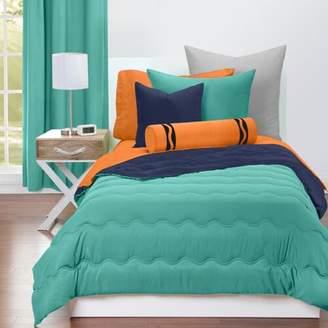 Crayola Blue Green and Navy Blue Reversible Comforter Set
