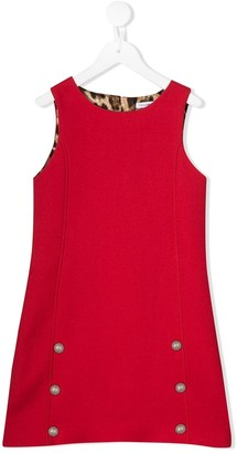 Dolce & Gabbana button embellished dress