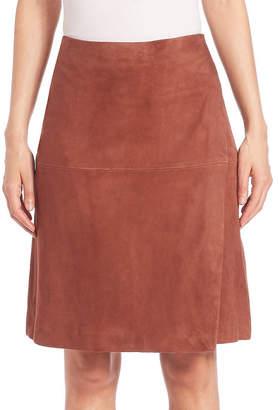 SET Suede Wrap Skirt