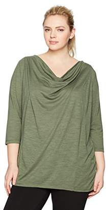 Fruit of the Loom Fit for Me by Women's Plus Size Active Drapey Tunic Tee