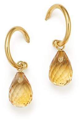 Bloomingdale's Citrine Briolette Hoop Drop Earrings in 14K Yellow Gold - 100% Exclusive