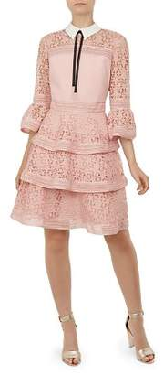 Ted Baker Starh Lace Tiered Dress
