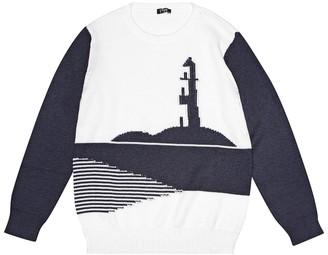 Il Gufo Intarsia cotton sweater