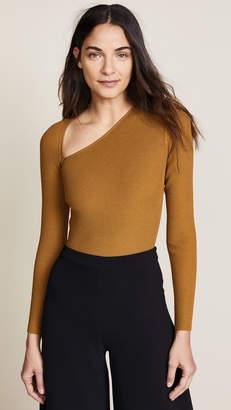Cushnie et Ochs Vivian Long Sleeve Asymmetrical Bodysuit